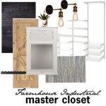 One Room Challenge {Week 1} – Farmhouse Industrial Master Closet