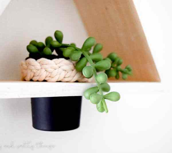 How to Make a DIY Triangle Shelf Planter