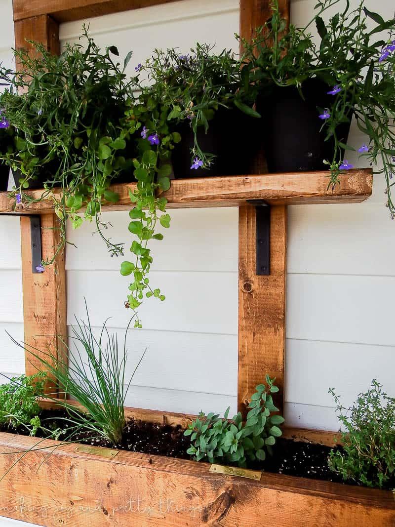 hanging herb garden planter 2x4 challenge-11