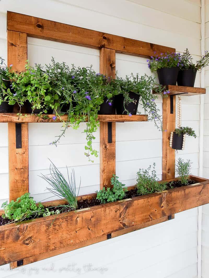 Vertical wall planter vertical garden vertical gardening herb garden vertical herb garden