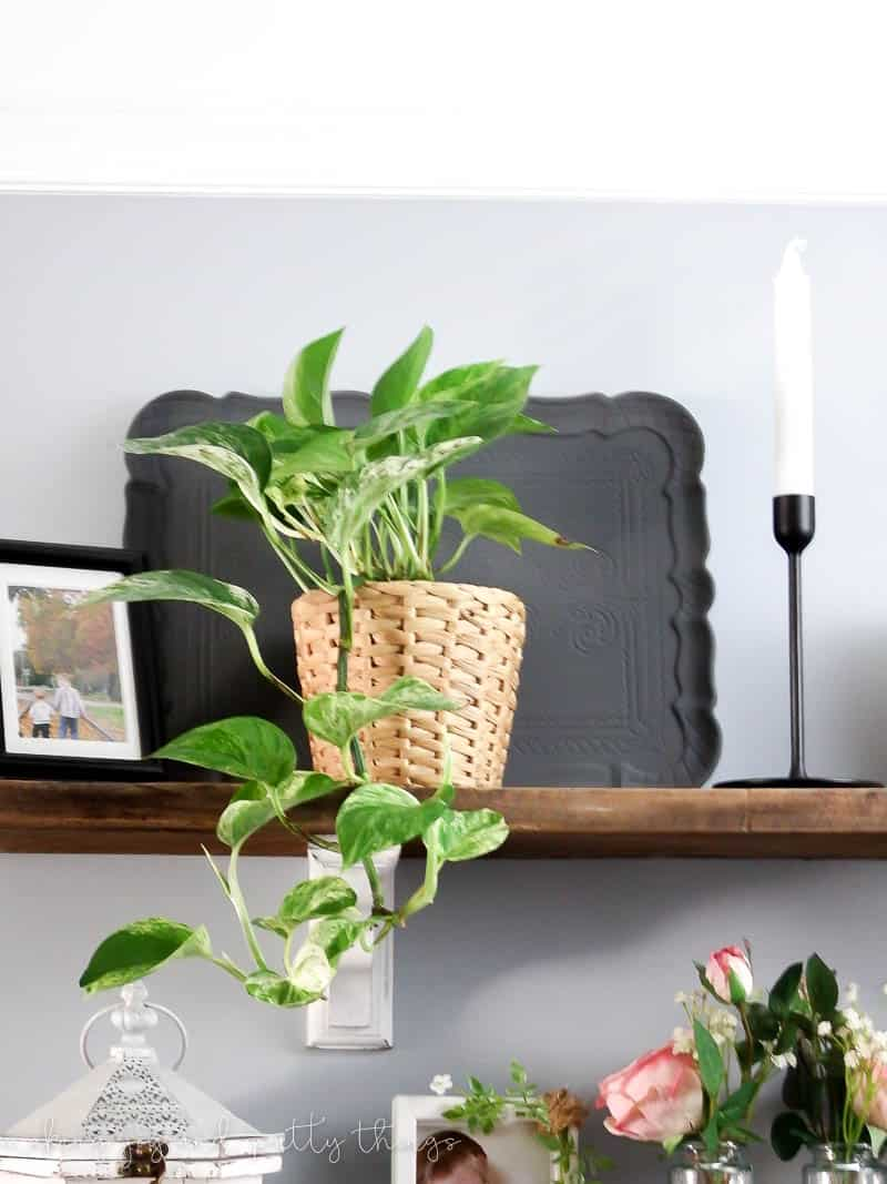 Farmhouse style upcycle project: DIY Chalk Painted Tray