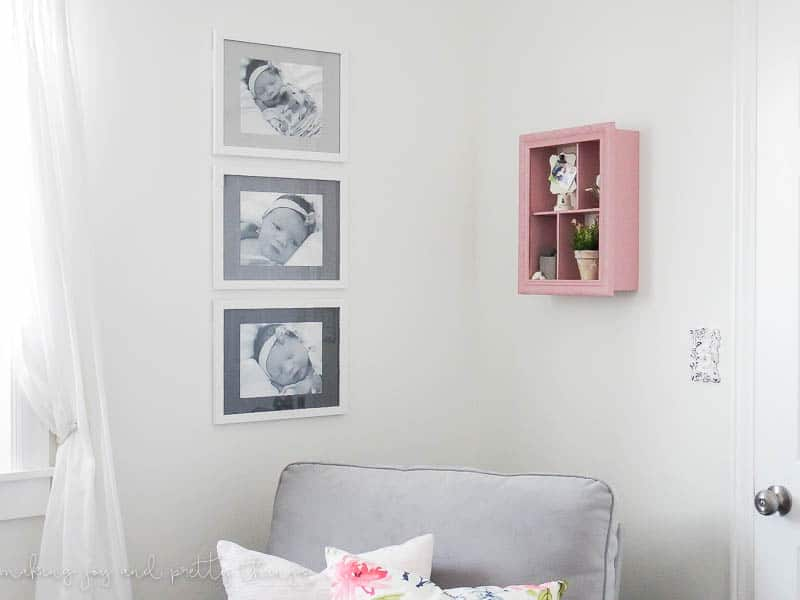 DIY Ombre Matted Picture Frames