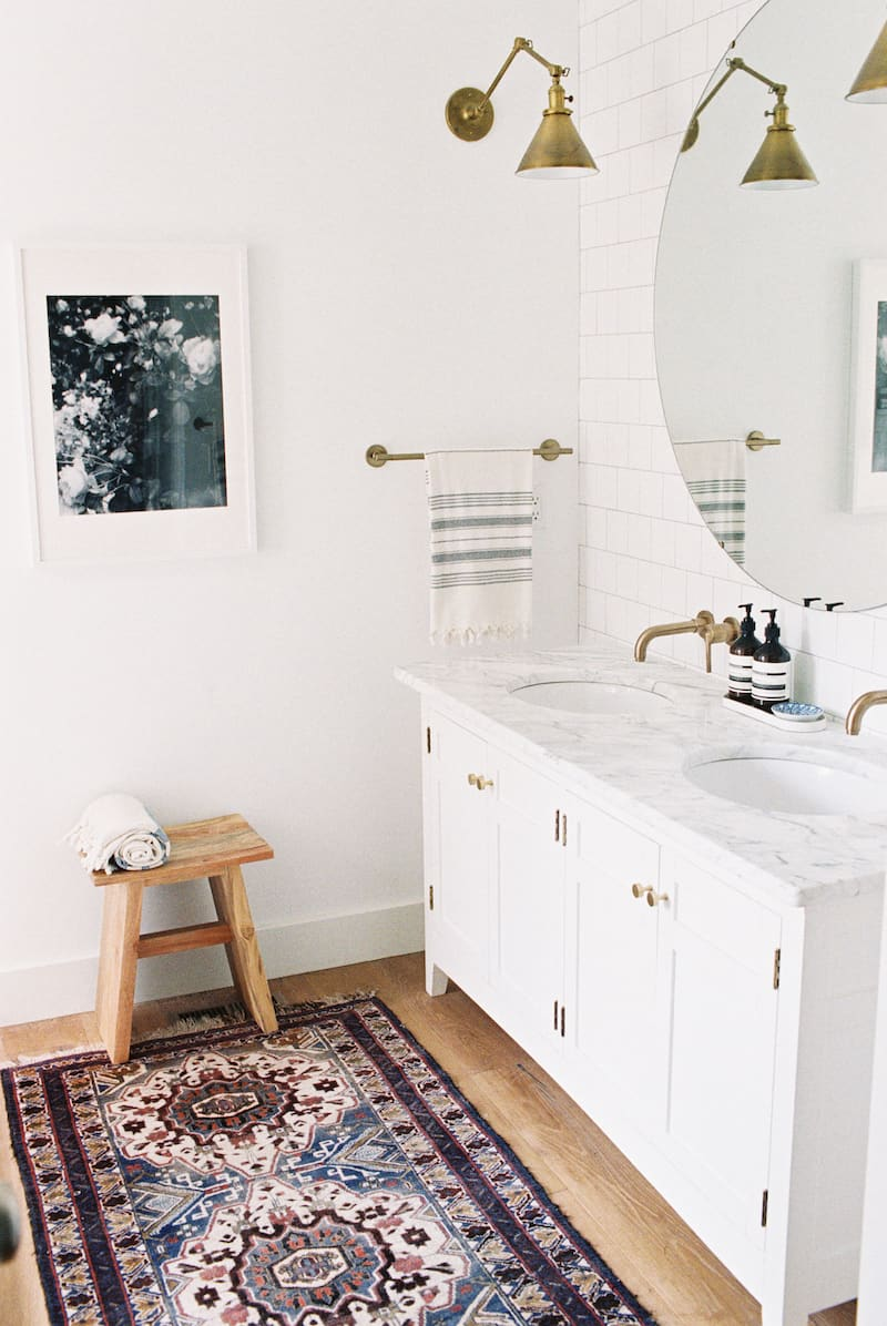 This Bathroom From Amber Interiors (another Favorite Interior Designer Of  Mine!) Is Swoon Worthy. Another Great Examples Of Mixing Metals, Dark  Vanity, ...