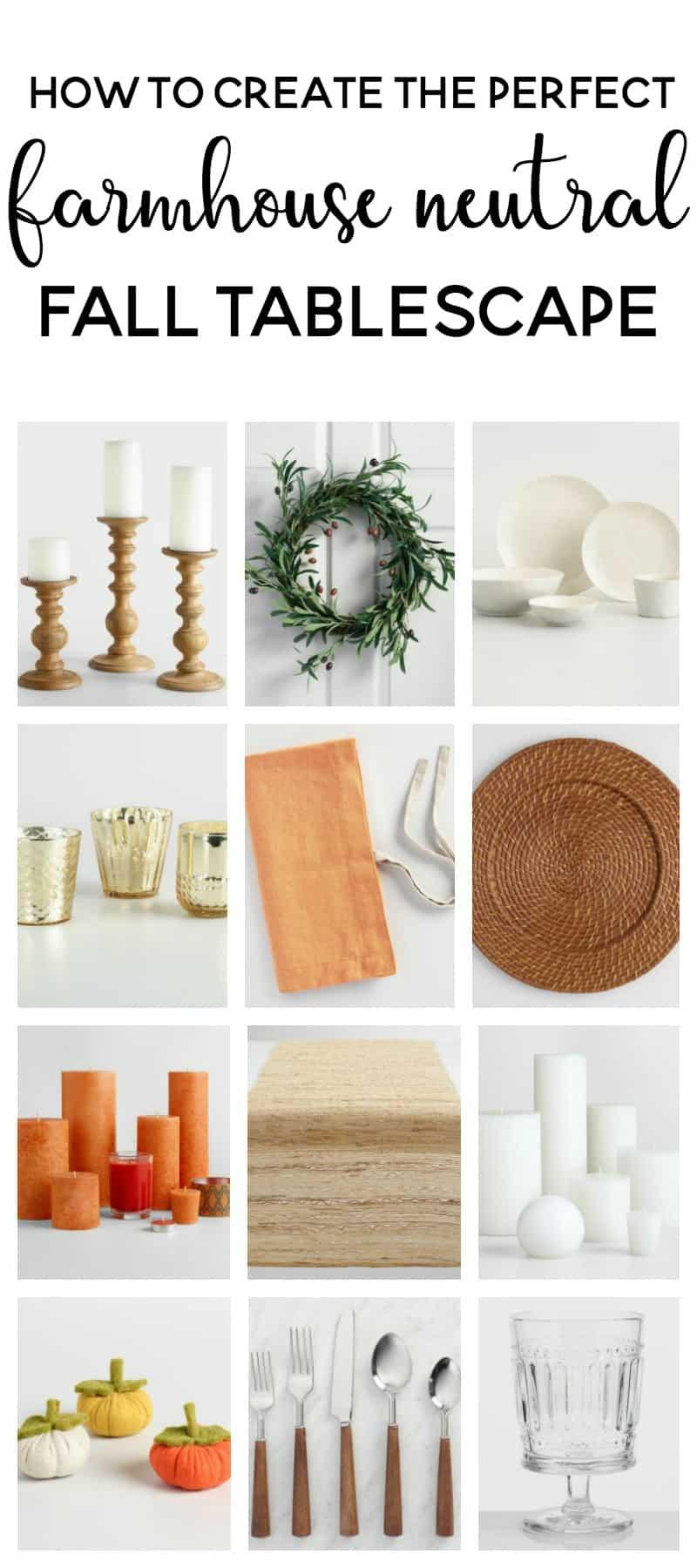 How to Create the Perfect Farmhouse Neutral Fall Tablescape @makingjoysarah for @worldmarket #worldmarket #ad #worldmarkettribe