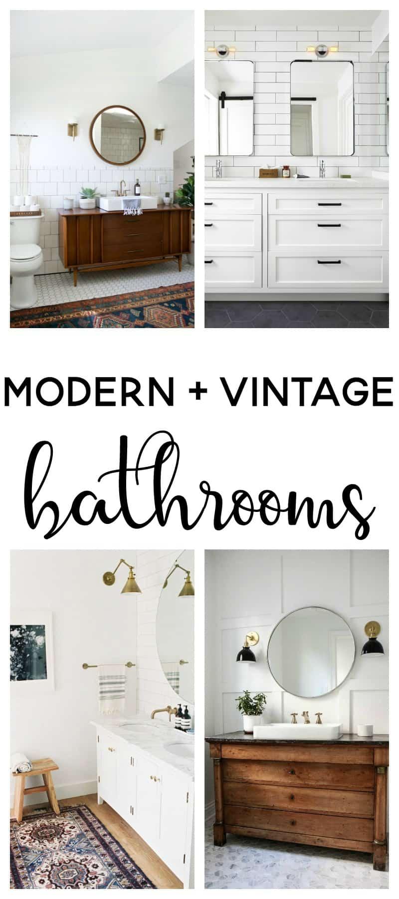 modern vintage bathroom | modern farmhouse | modern vintage bathroom ideas | bathroom ideas | bathroom remodel | bathroom decor | master bathroom ideas | master bathroom remodel | master bath remodel |