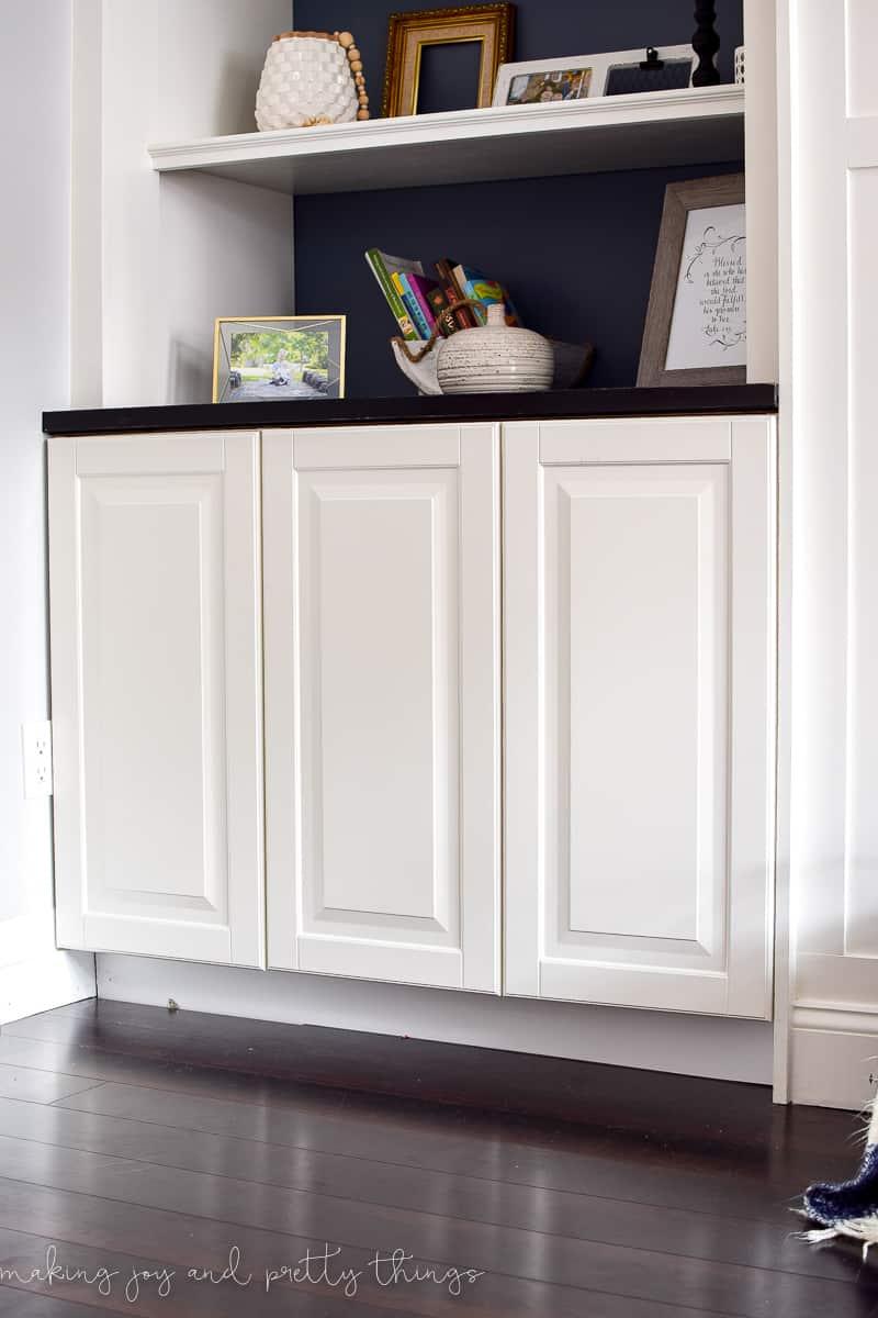 IKEA Hack: Kitchen Cabinets Turned Built Ins - Making Joy ...
