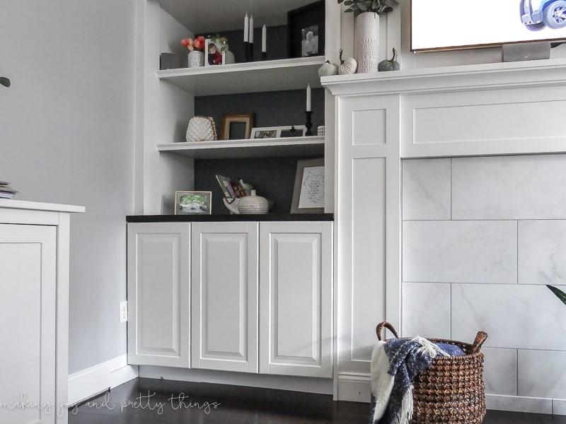 Ikea Hack Built In Bookshelves 4
