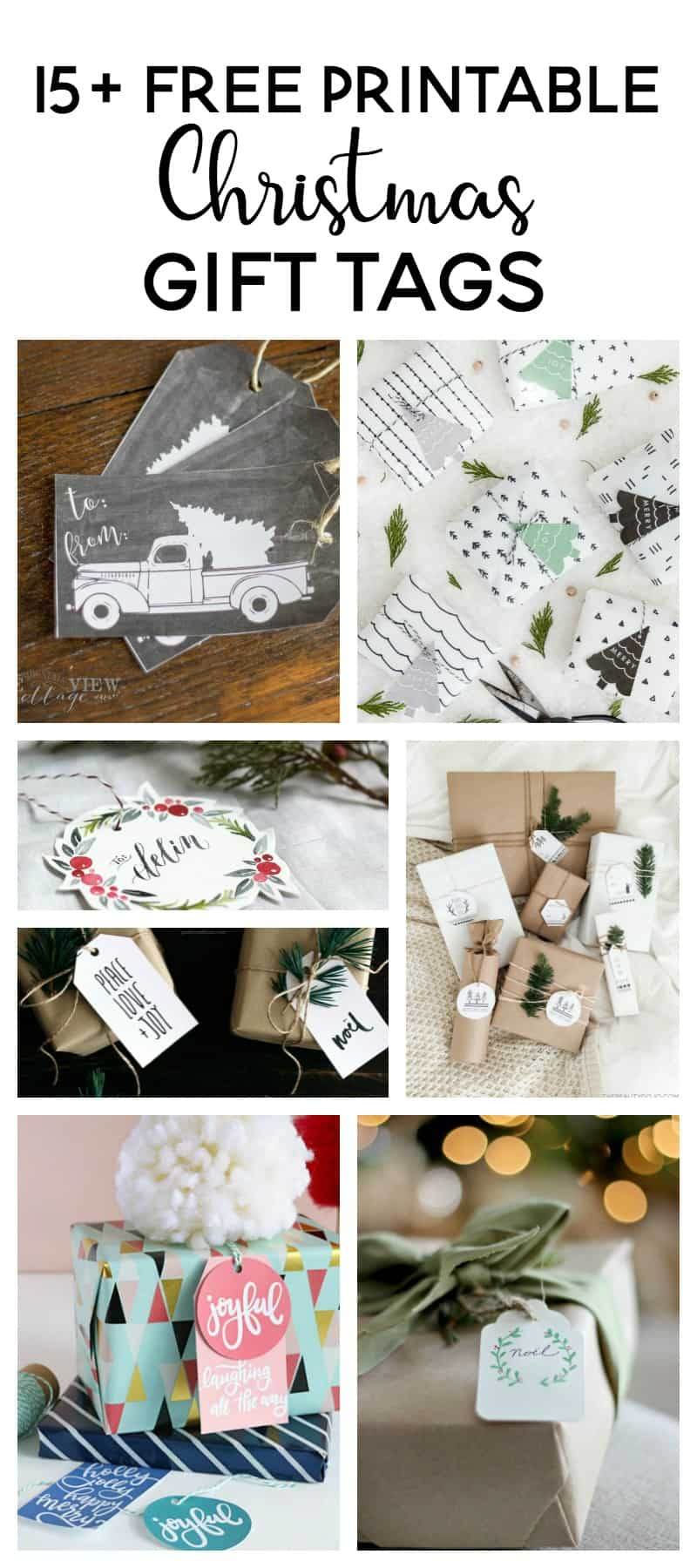 15+ Free Printable Christmas Gift Tags -