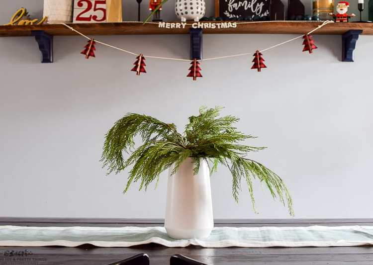 Decorating Our Dining Room for Christmas