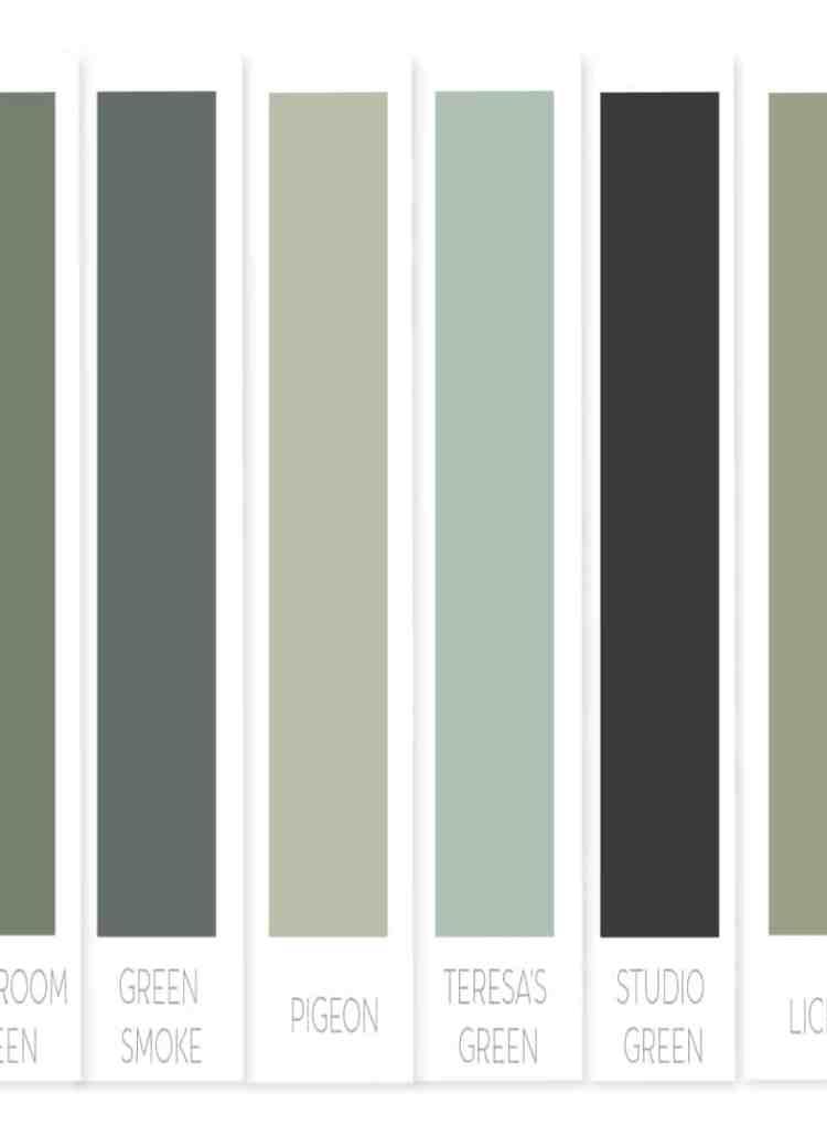 One Room Challenge Week Three : : My Favorite Green Paint Colors