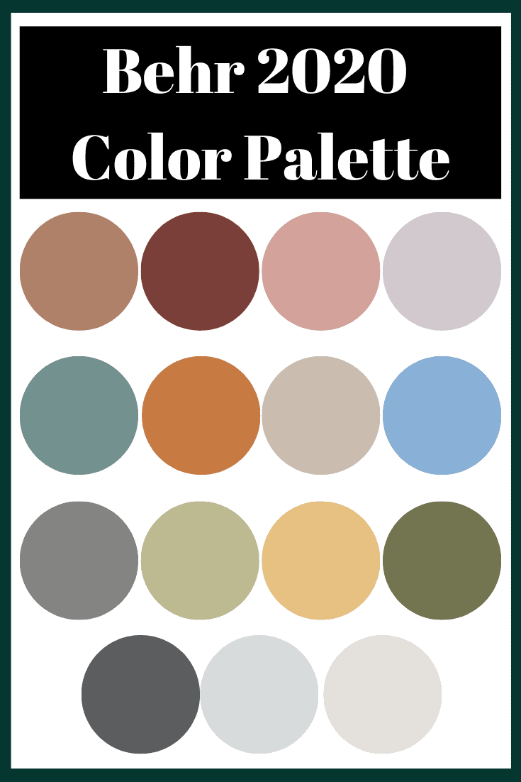 Behr 2020 Colors of the Year. Get your home on trend with the best paint colors to use in your home. Tons of inspiration from top paint brands on which paint colors to choose and which paint color is trending right now. Get paint color schemes and paint colors for your home!