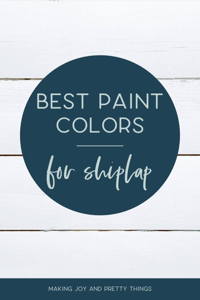 So you installed your shiplap wall or shiplap ceiling but what color do you paint it? My favorite paint color for shiplap walls is Alabaster by Sherwin-Williams. It's the color we painted our DIY shiplap wall in our daughter's nursery and we loved it. Read the post to see my 2 other favorite paint colors for shiplap whether you are farmhouse style or more modern. Plus, I'm sharing 9 additional colors you may not have thought of! #shiplap #paint #diyshiplap
