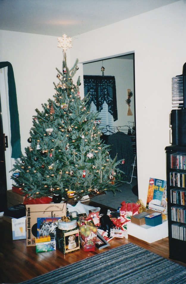 Our very first Christmas tree in our very own apartment. Together.