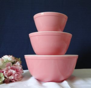 Pyrex Pink Mixing Bowls