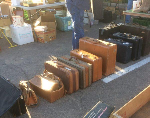 Vintage Suitcase Antique Suitcase Thieves Flea Market Old Suitcase