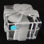 Tiffany and Co® crystal gift box paperweight