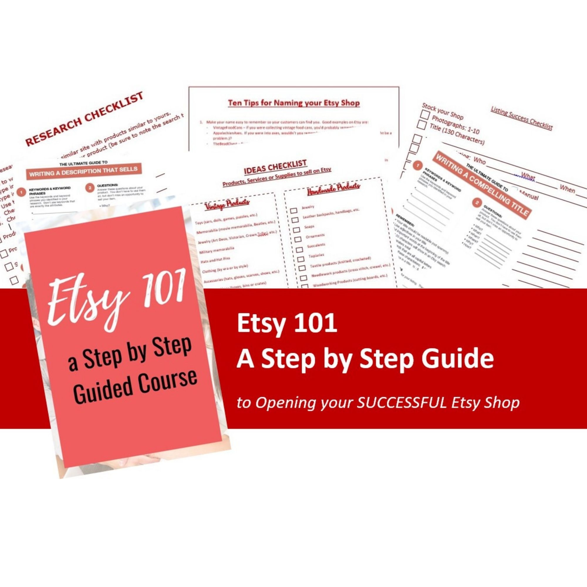 Etsy 101 course graphic
