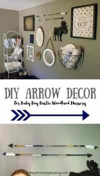 DIY Arrow Decor for Baby Boy Rustic Woodland Nursery