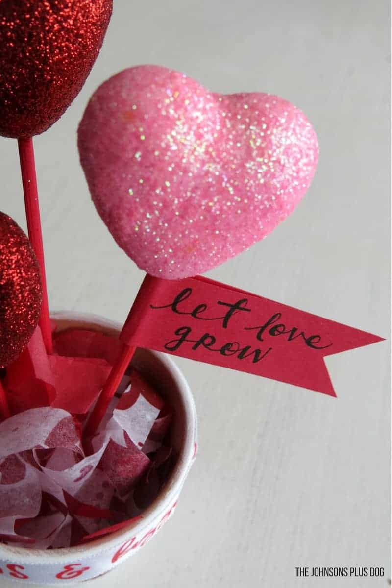 DIY Valentines Day Dollar Store Craft Pot Of Hearts