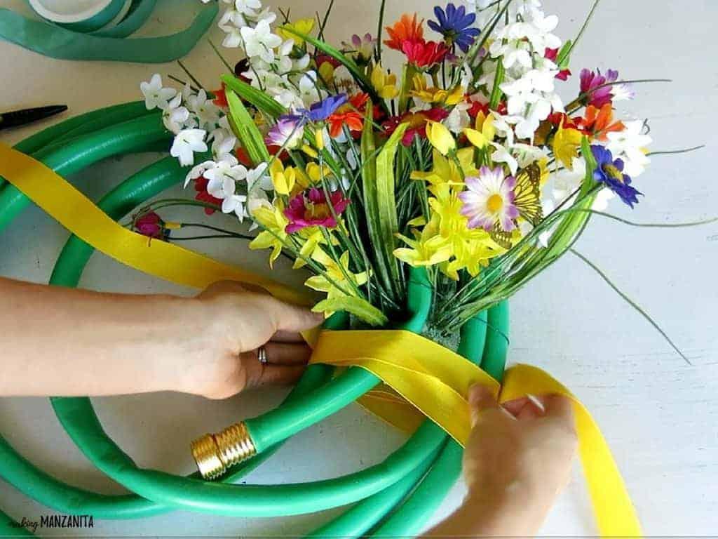 Garden Hose Wreath For Summer