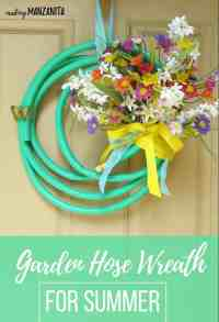 Garden Hose Wreath For Summer - Making Manzanita
