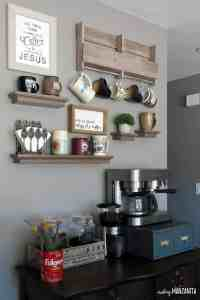 How to Create a DIY Coffee Station at Home - Making Manzanita