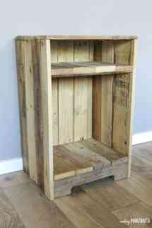 Pallet Wood Side Table With Rustic Style - Making Manzanita