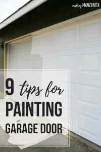 Painting Garage Door - Easy Way to Instantly Improve Curb ...
