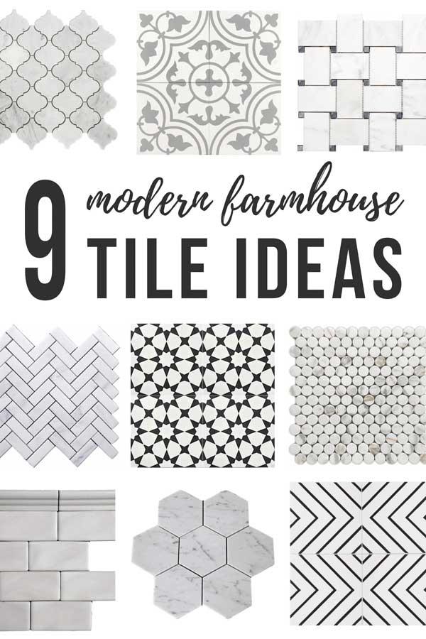 9 modern farmhouse tile ideas