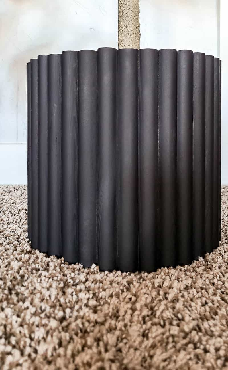 shows an up-close picture of a fluted textured pot