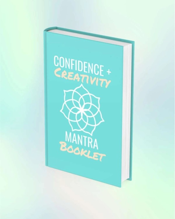 Confidence Creativity Mantra Coloring Booklet Cover