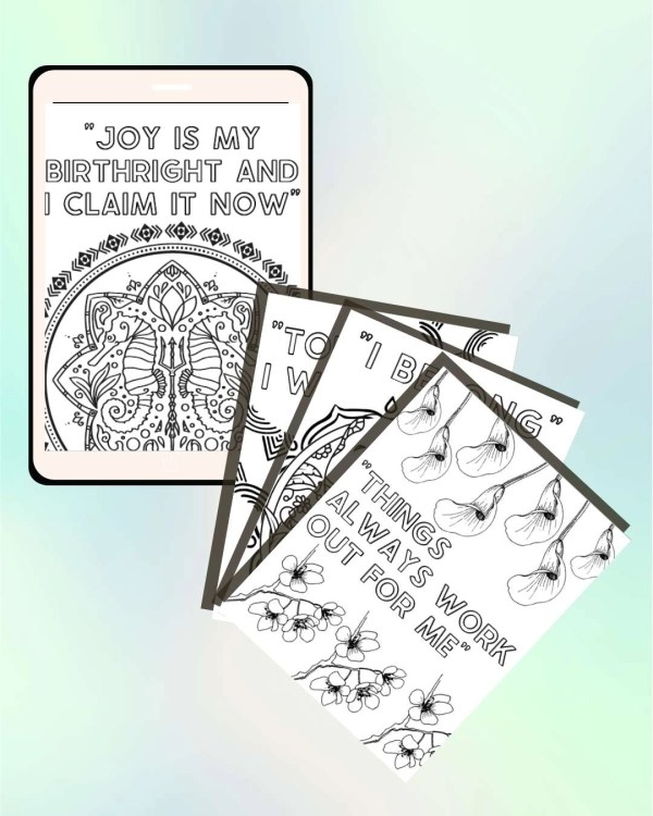 Confidence Creativity Mantra Coloring Booklet Mobile Pages