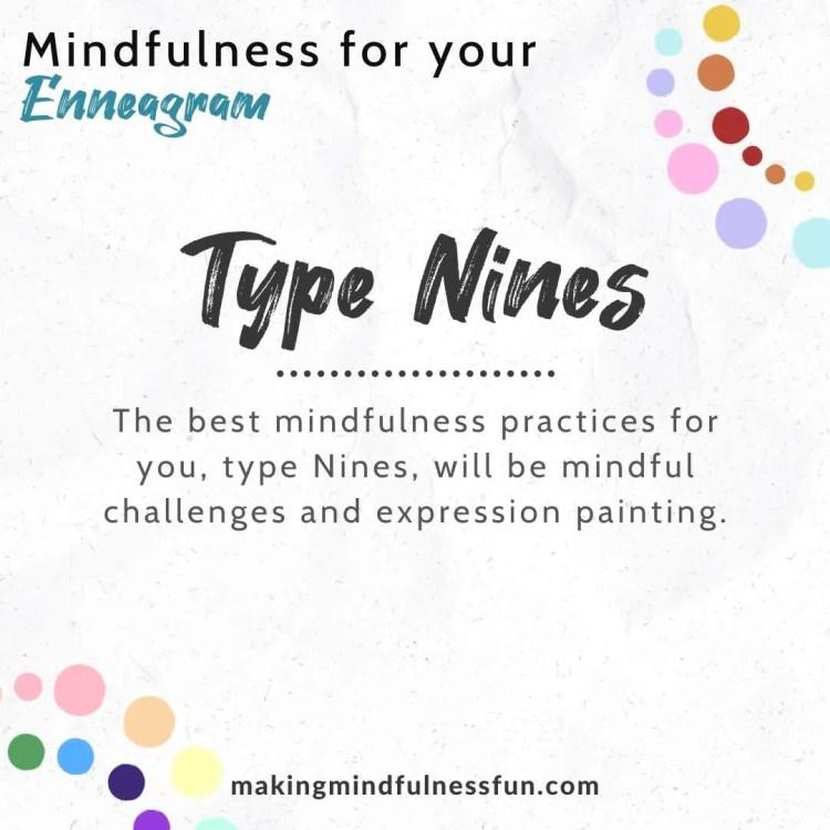 Enneagram Type Nine Mindfulness