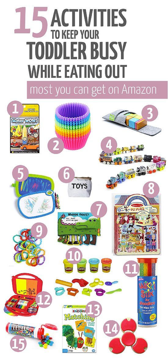 toddler activities and toys for eating out restaurant