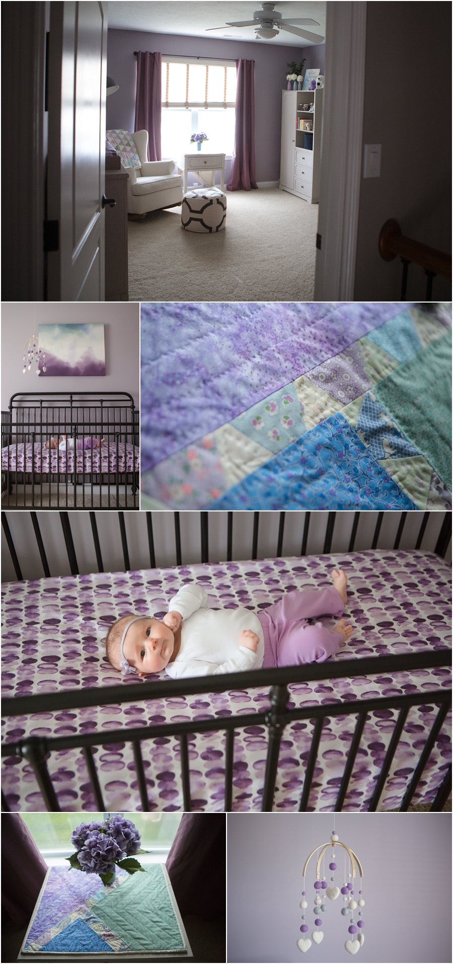 Purple watercolor nursery