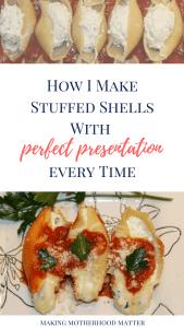 perfect presentation stuffed shells