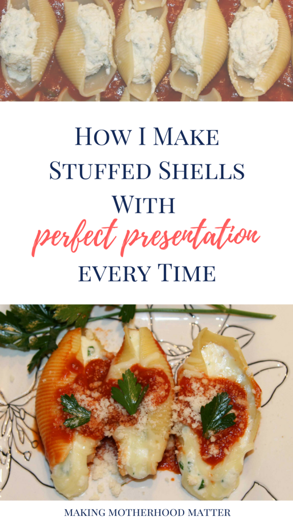 perfect presentation stuffed shells