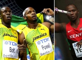 Usain Bolt, Asafa Powell & Julius Yego