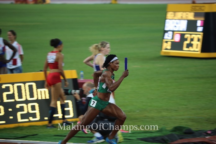 Africa's chase for a World Championships medal in the women's 4x400m continues. (Photo Credit: Making of Champions/PaV Media)