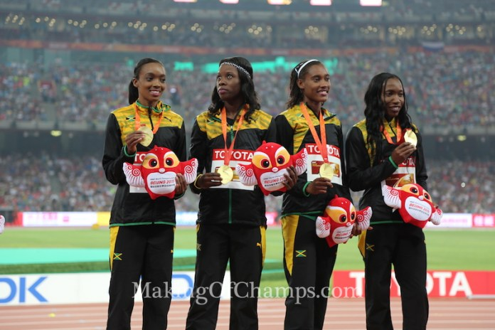 Their victory makes it three out of four for Jamaica in the relays. (Photo Credit: Making of Champions/PaV Media)