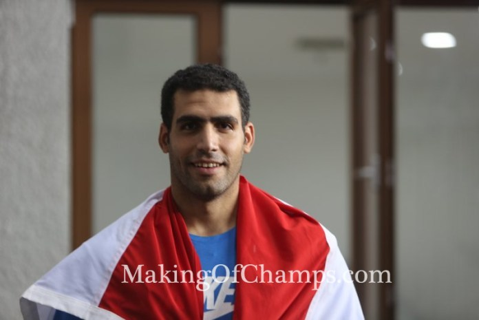 Egypt's Ihab Abdelrahman set a Championship Record in the Javelin throw.