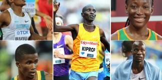 Congo Brazzaville, World Championships, Asbel Kiprop, Marie Josee Ta lou, Nijel Amos, Anaso Jobodwana, Isaac Makwala