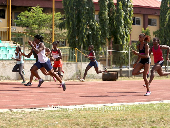 Agnes Osazuwa clocked the fastest time in the women's 100m.