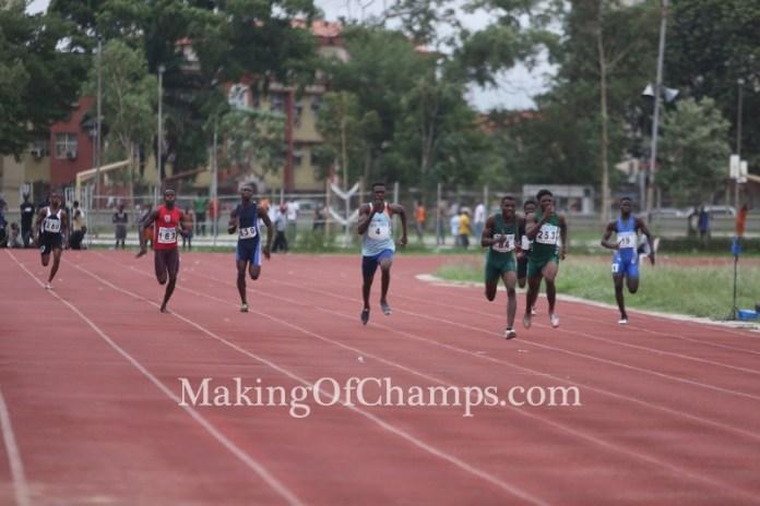 Onengi Ikoko finished 2nd behind Raymond Ekevwo in his 200m heat.