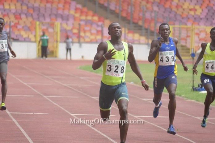 Orukpe Erayokan was the man to beat in the 400m.