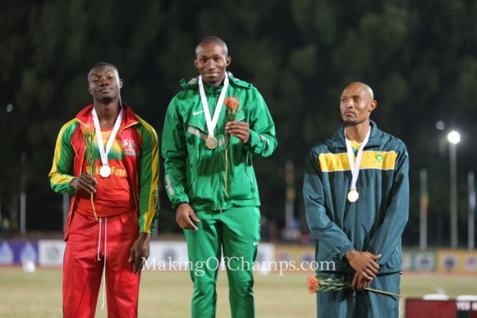 Tosin Oke all smiles as he reclaims his African title