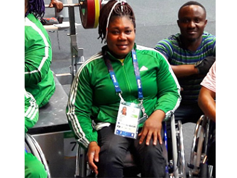 Image result for pic of ndidi nwosu winning gold at rio paralympics