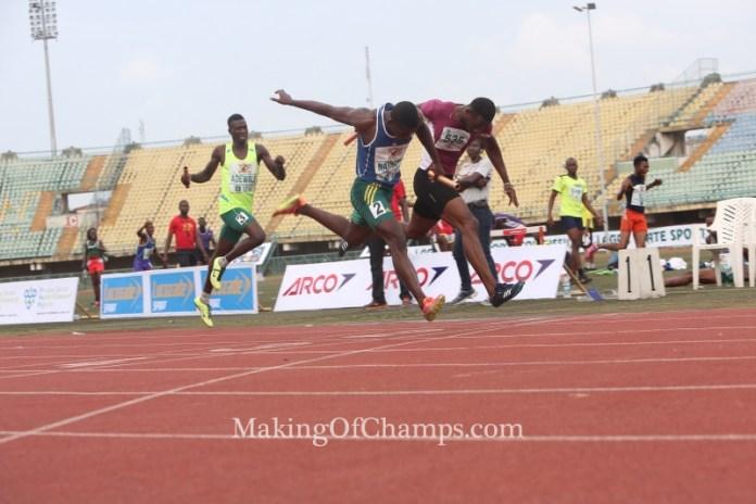 Samson Nathaniel pipped Sulaimon Badewa on the finishing line.