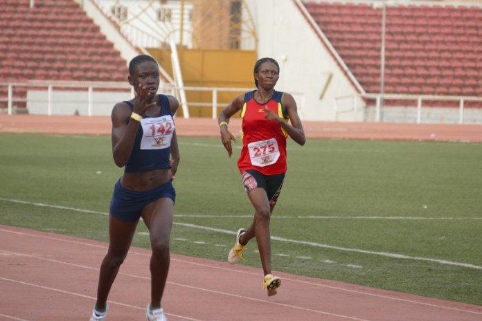 Glory Nyenke in action during the 2015 Top Sprinter audition in Enugu