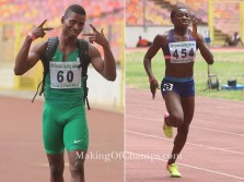 Nathaniel & Ajayi clock PBs to qualify for World Championships
